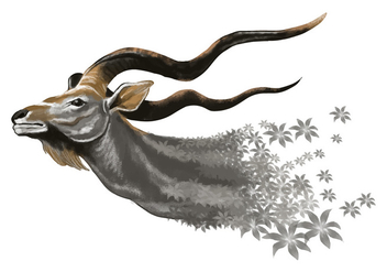 Whimsical Kudu Vector - Kostenloses vector #395713