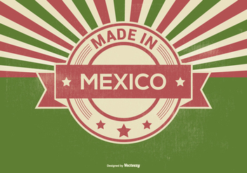 Retro Made in Mexico Illustration - vector gratuit #395723