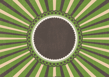 Retro Grunge Sunburst Background - vector gratuit #395743