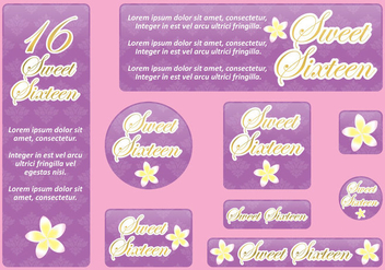 Sweet 16 Banners - Free vector #395863