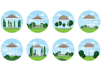 Free Wedding Gazebo Vector - vector gratuit #395873