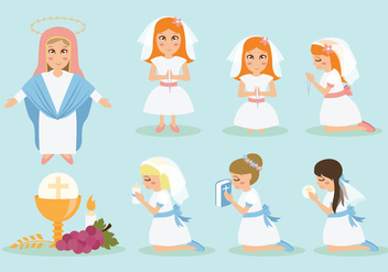 Free Communion Icons - vector #395903 gratis