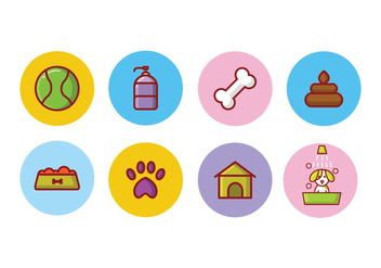 Free Dog Icon Set - vector gratuit #395933