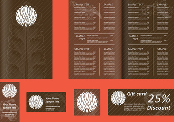 Brown Menu Templates - vector gratuit #395953