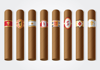 Free Cigar Label Vector - Free vector #395973