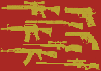 Guns Icons - vector #395983 gratis