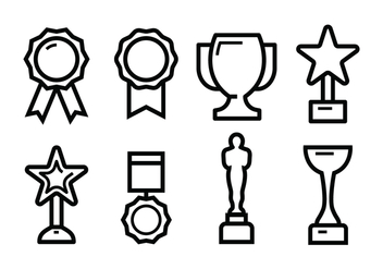 Free Award Icon Set - vector gratuit #396033