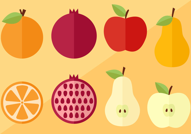 Fruit Slices and Vectors - Free vector #396083