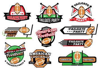 Free American Football Tailgate Party Sticker Vectors - Kostenloses vector #396143