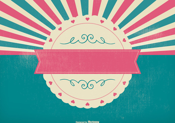 Pink Colorful Sunburst Background - vector #396183 gratis