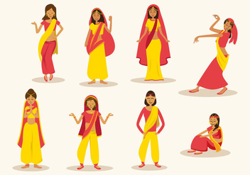 Free Indian Woman Vector - Free vector #396203