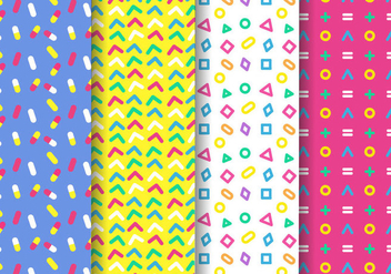 Free Memphis Pattern Vector - Free vector #396213