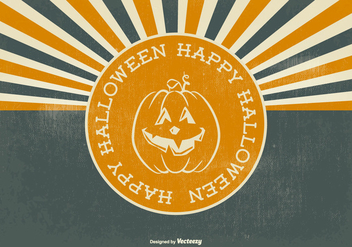 Retro Halloween Illustration - vector gratuit #396253