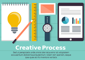 Free Creative Process Illustration - бесплатный vector #396333