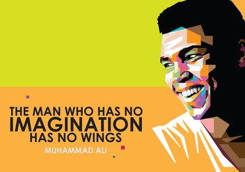 Muhammad Ali in Popart Portrait - Free vector #396343