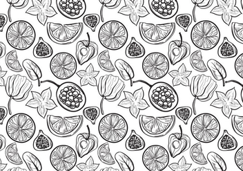 Free Fruit Pattern 2 Vectors - Free vector #396363