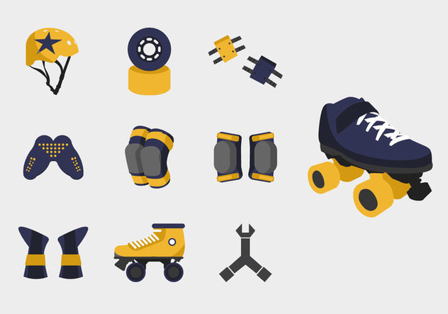 Roller derby starter pack stuff - Free vector #396403