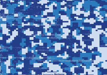 Multicam Pixelated Pattern Blue Vector Camouflage - vector gratuit #396483