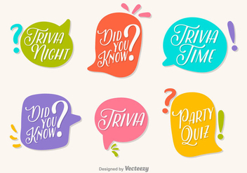 Fun Trivia Vector Speech Bubbles - Kostenloses vector #396493