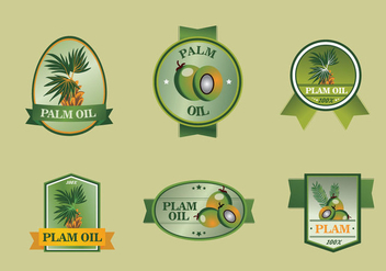Palm oil label set - vector gratuit #396503