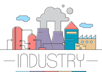 Free Factory Vector Illustration - бесплатный vector #396583