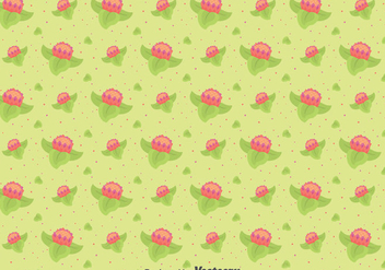 Flat Protea Flowers Pattern - Free vector #396623