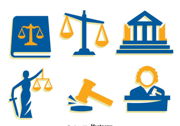 Justice Element Icons Vector - vector #396713 gratis