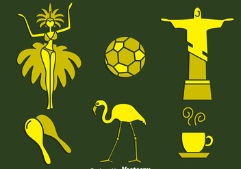 Samba Element Vector Set - Kostenloses vector #396753