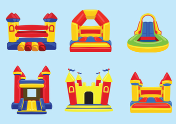 Bounce House Vector - vector #396783 gratis
