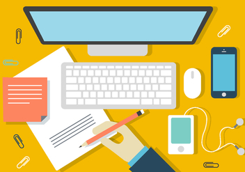 Free Designer Desk Illustration - бесплатный vector #396823