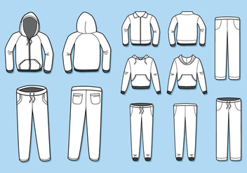 Free Blank Tracksuit Template Vector - Free vector #396943