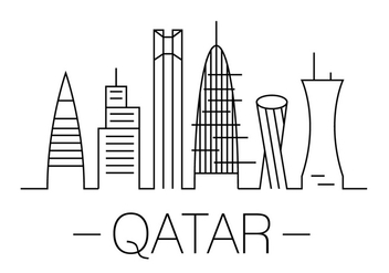 Qatar Vector Illustration - vector gratuit #396993