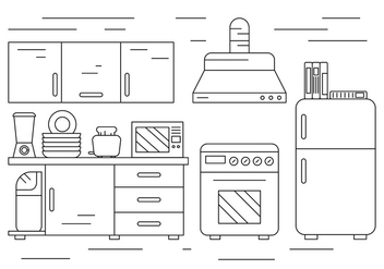 Free Kitchen Illustration - бесплатный vector #397073
