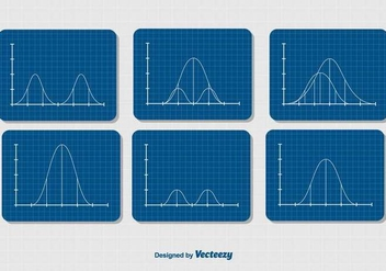 Gaussian Bell Curve Diagrams Set - Free vector #397083