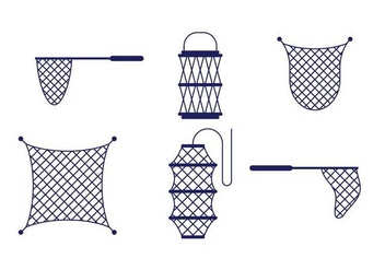Fishing Net Vector - Free vector #397113