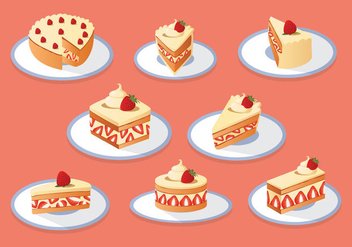 Free Strawberry Shortcake Collection - Kostenloses vector #397123