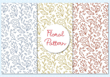 Floral Pattern Outline Illustration - Free vector #397163