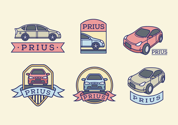 Prius color vector pack - Free vector #397213