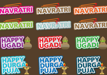 Navratri Titles - vector #397273 gratis