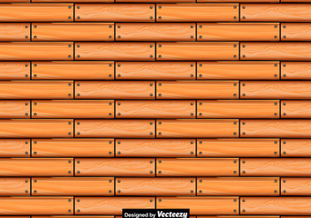 Vector Seamless Pattern Of Wooden Planks - Free vector #397313