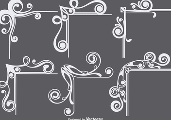 Ornamental Corners Set - Free vector #397353