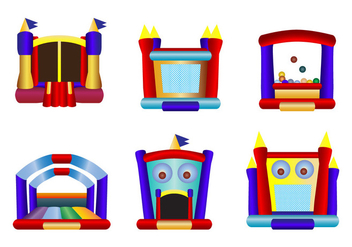 Children Bounce House Icon Vectors - Kostenloses vector #397393