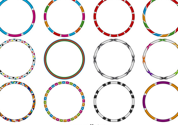 Vector Hula Hoops Set - Kostenloses vector #397503