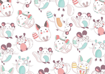 Chinchilla Cute Pattern Vector - Free vector #397533