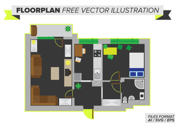 Floorplan Free Vector Illustration - бесплатный vector #397613