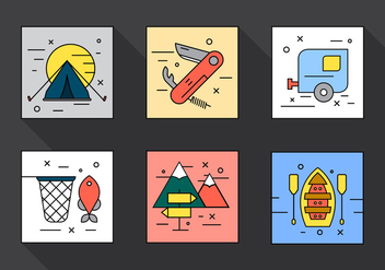 Camping Vector Icons - Free vector #397683