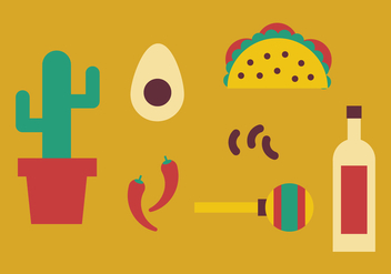 Elements from Mexico - Free vector #397703