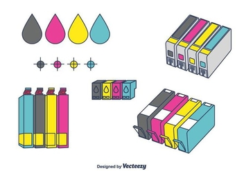 Ink Cartridge Vector - Free vector #397913