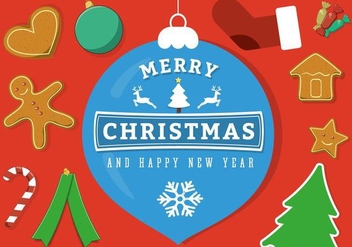 Free Vector Merry Christmas Background - vector gratuit #397933