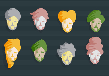 Turban Guy Vector Illustration - vector gratuit #397963